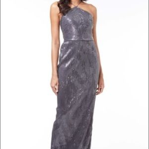 Adrianna papell metallic sequin dress
